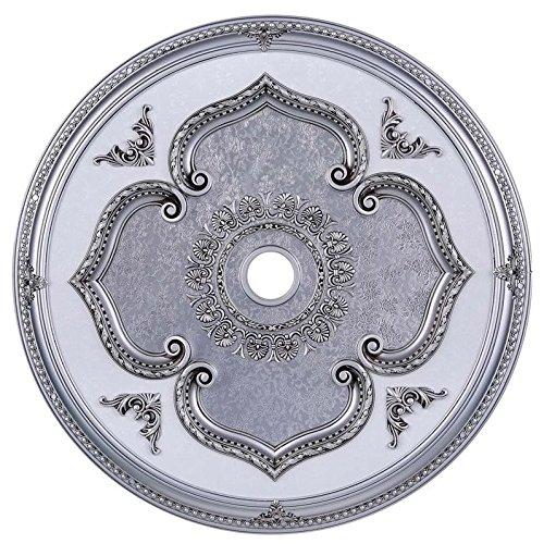 Pewter Ceiling Medallion (Elegant Lighting MD206D43PW Medallion, Pewter, 43