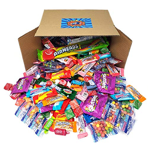 Assorted Taffy Candy Variety Party Mix - Skittles, Tootsie Roll Chews, Air Heads, Starburst, SweeTarts, Now and Later, Salt Water Taffies, Laffy Taffy, Bulk Pack, 5 Lbs (Best Laffy Taffy Jokes Of All Time)