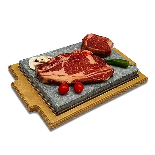 Piedra para Carne de 20x30 Modelo Bandeja Roble: Amazon.es