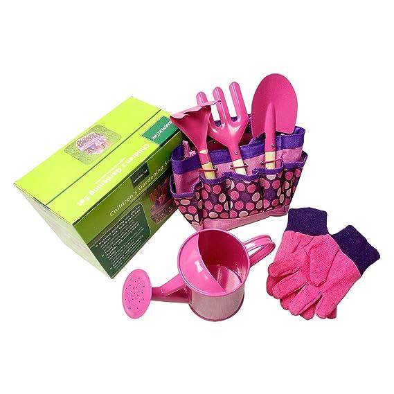 FURU Mini-Gartenwerkzeug-Sets,Little Gardener Tool Set Mit Tasche Kinder Kinder Gartenarbeit Jungen Mädchen Geschenk Spielzeu