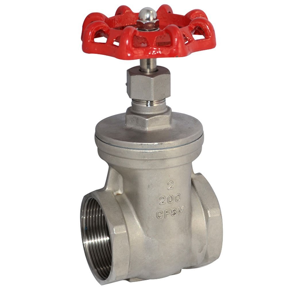 2'' NPT Heavy Duty Gate Valve CF8M with Stainless Steel SUS SS 316