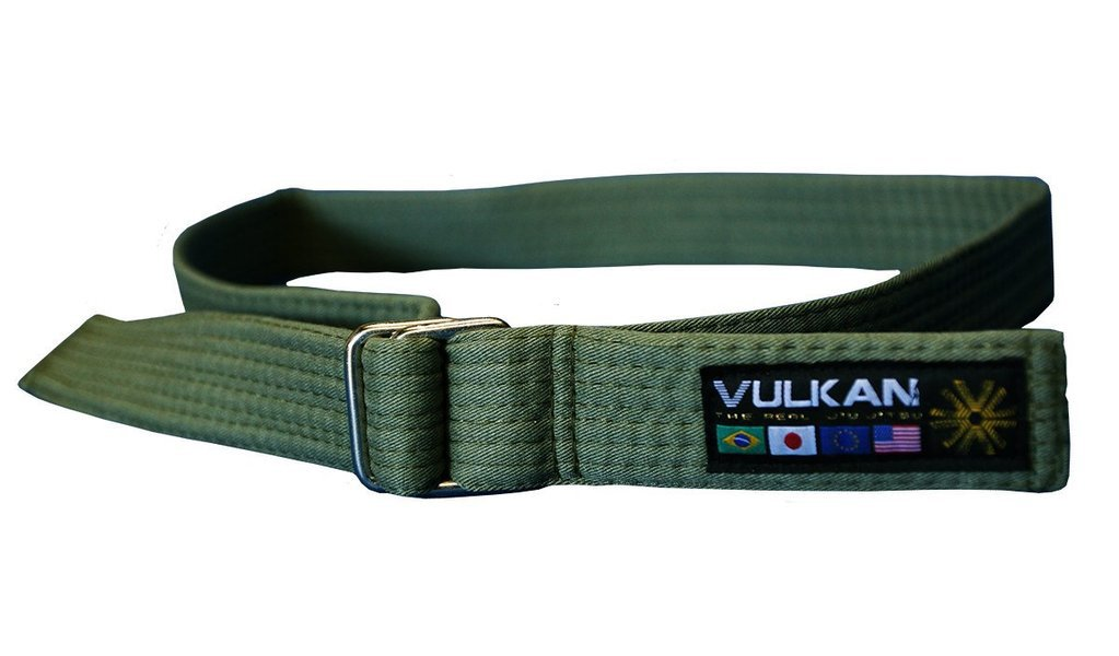 Vulkan Fight Company Street Wear Jiu Jitsu, Belt With Double-Ring Buckle For Martial Arts Sports, Green, L by Vulkan