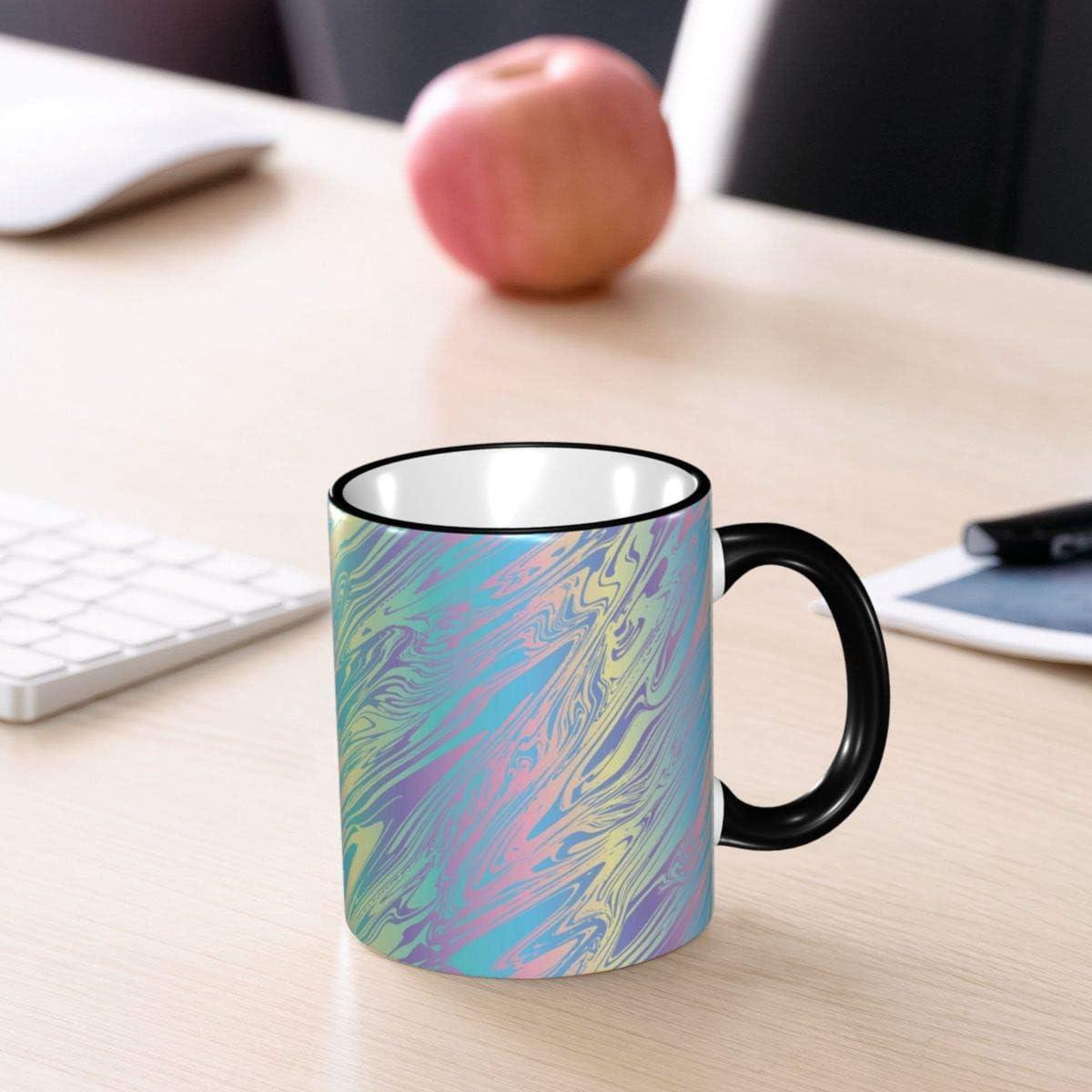 taza de t/é de 11 onzas compa/ñeros de trabajo YHJUI Taza divertida tazas de caf/é de cer/ámica de m/ármol hologr/áfico amigos el mejor regalo o recuerdo para familiares