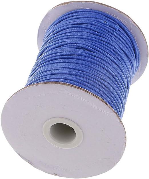 CHOUCHOU Colgante Pendientes 82M / Rollo de cordón de algodón Encerado Redondo Collar de Joyas Pulsera DIY 2 mm, Color: Rojo (Color : Blue): Amazon.es: Hogar