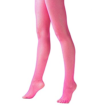 84cee9898a1c7 Mytoptrendz® Bright Neon Pink Fishnet Tights Footed Tights One Size (UK  Dress Size 8-12): Amazon.co.uk: Clothing
