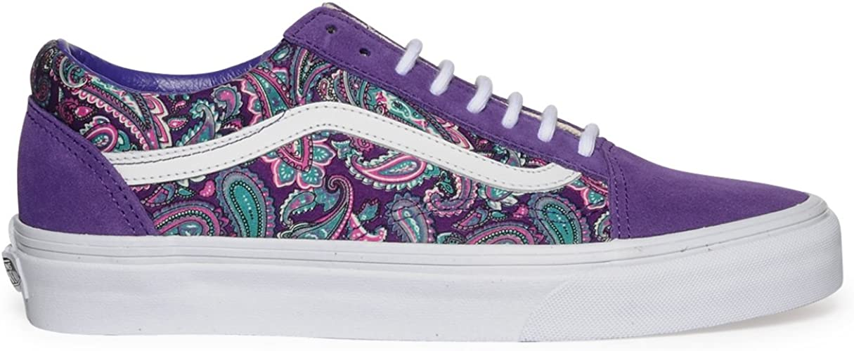 Vans Vans Old Skool Skate Shoes - (Paisley) Violet/True ...