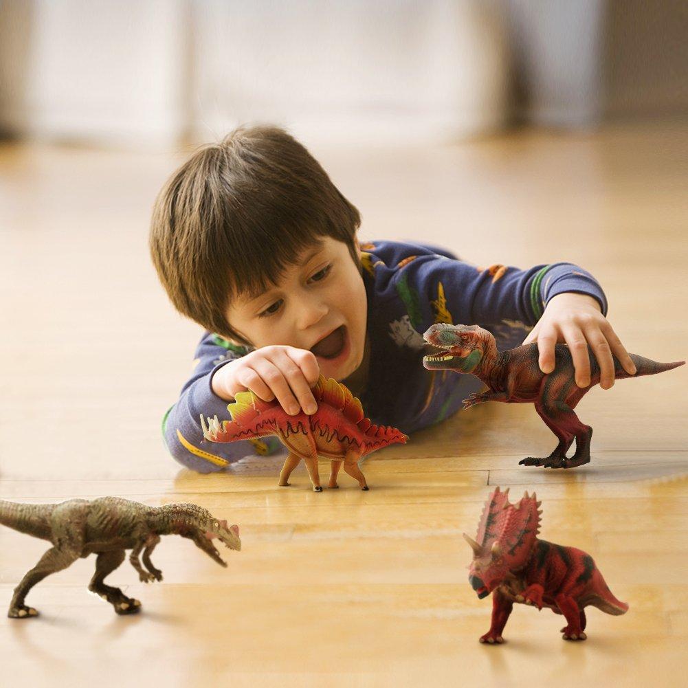 Dinosaurios Tiranosaurio Rex Figuras Animales Juguetes Decoracion Hogar Infantil Decoracion Fiesta Cumplea/ños 4 Piezas