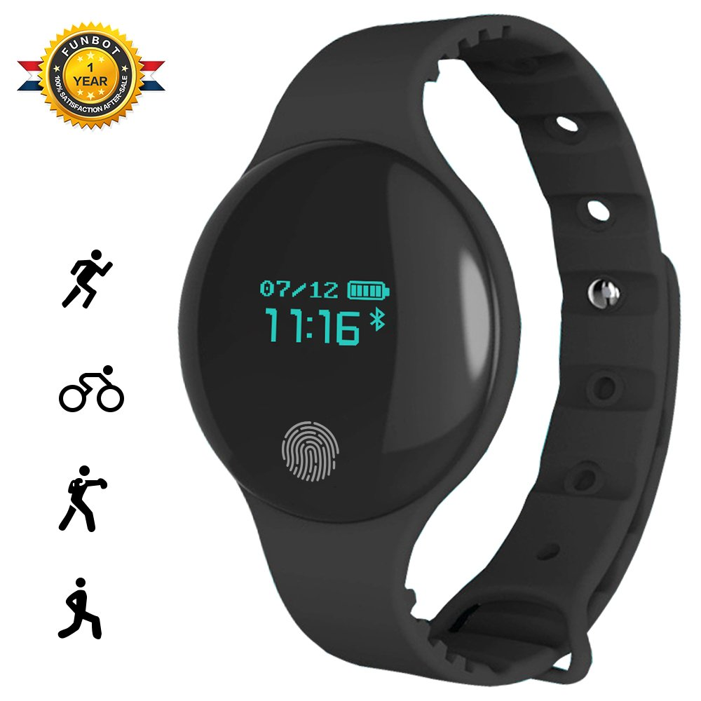 funbot Fitness Tracker, TLW08 Smart Wristband Sleep Monitor,Distance,Calorie,Step Counting Watch IP66 Waterproof Bluetooth Activity Health Tracker for Android & iOS