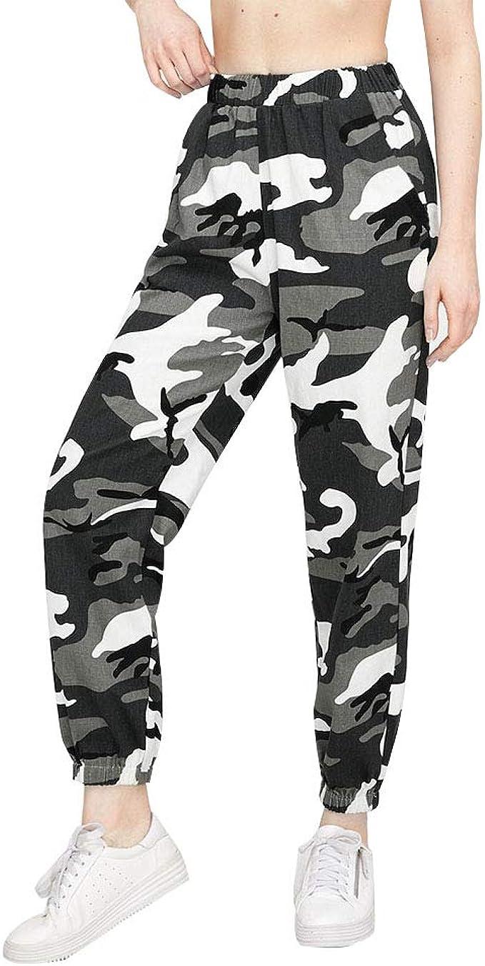 Loalirando Pantaloni mimetici da donna, stile cargo mimetico