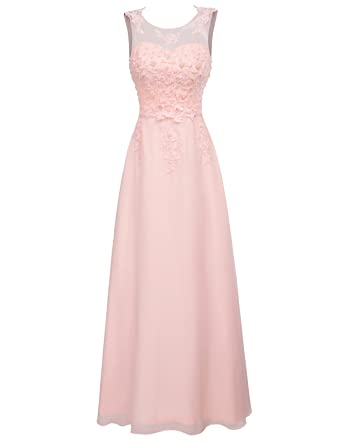 9057c790e06 GRACE KARIN Women Evening Gown Formal Dress Long Chiffon Sleeveless Ball  Prom Dress  Amazon.co.uk  Clothing