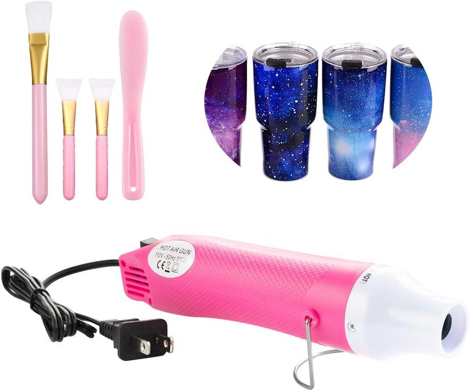 Professional Cup Tumbler Turner DIY Kit Bubble Buster Tool Glitter Powder Epoxy