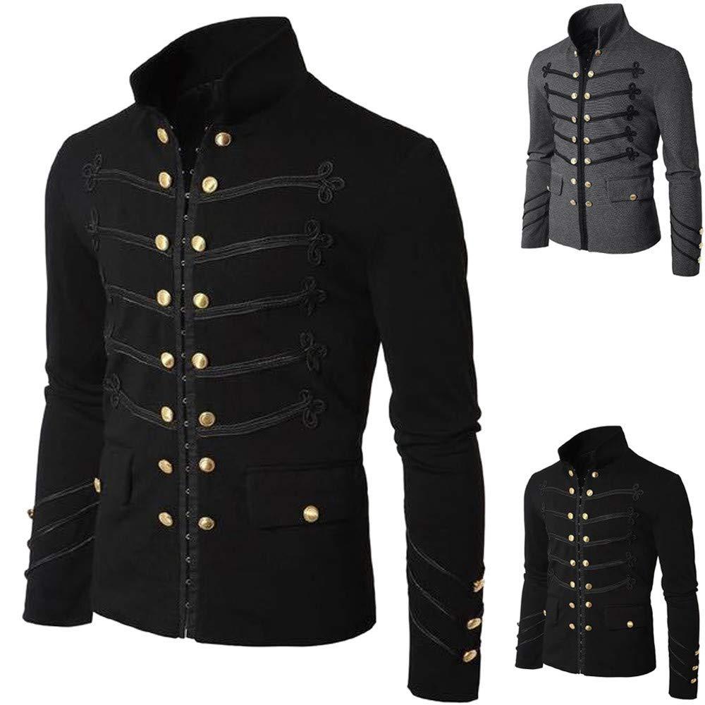 1 nero(black) Zolimx Cappotto,Uomo Top,Invernale Ricamare Il
