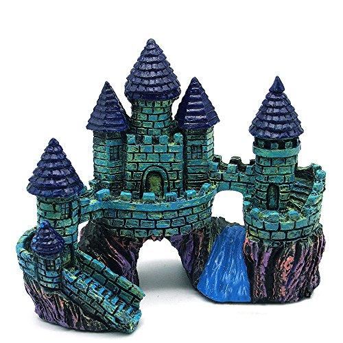 Gosear Antiguo Castillo de Resina para Acuario Pecera Simulación de Paisaje Complementos de Decoración