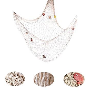 Fischernetz Deko ,Mediterranen Stil Fischerei Dekorative Mit Farbigen  Muscheln,Netze Hintergrund Schlafzimmer Wohnzimmer Kinderzimmer
