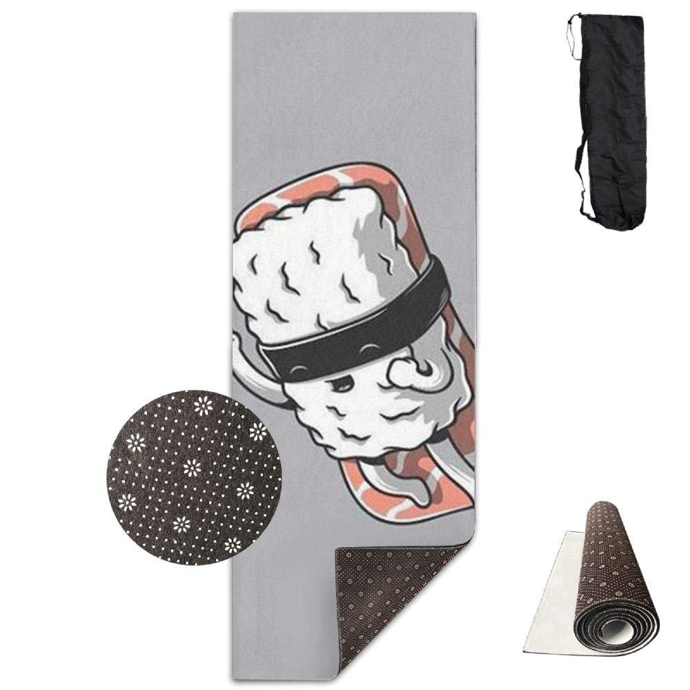 Taoyzi Non-Slip Fashion-Forward Samurai Sushi Fun Printed Yoga Mat Aerobic Exercise Mat Pilates Mat Baby
