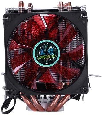 Radiador de ventilador de la CPU 4 tubo de calor 4 cables con ...