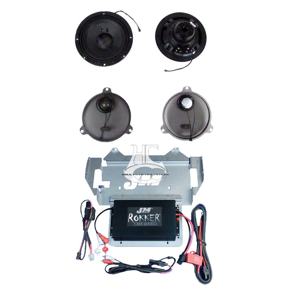 J&M Audio Rokker XXRK Extreme 2 Speaker and 300 Watt Amp Kit for 2014 and Newer Harley-Davidson Street Glide, Ultra Classic models - XXRK-330SP2-14SG