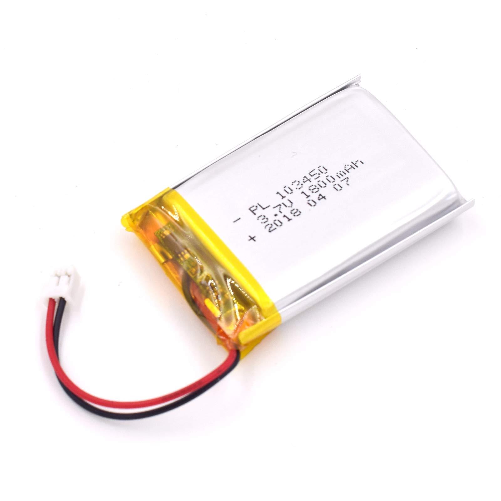 Bateria Lipo 3.7V 1800mAh 103450 Recargable JST Conector