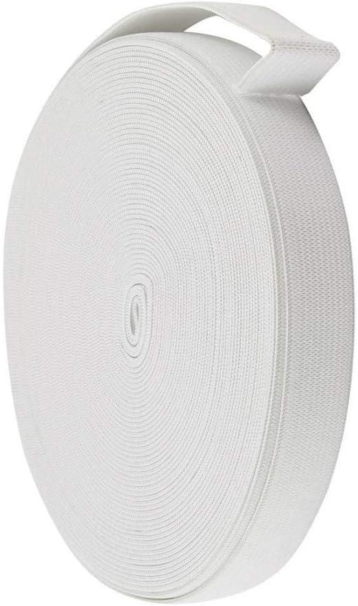 18 mm x 12 m bianco intrecciato elastico di ricambio per abiti da sartoria
