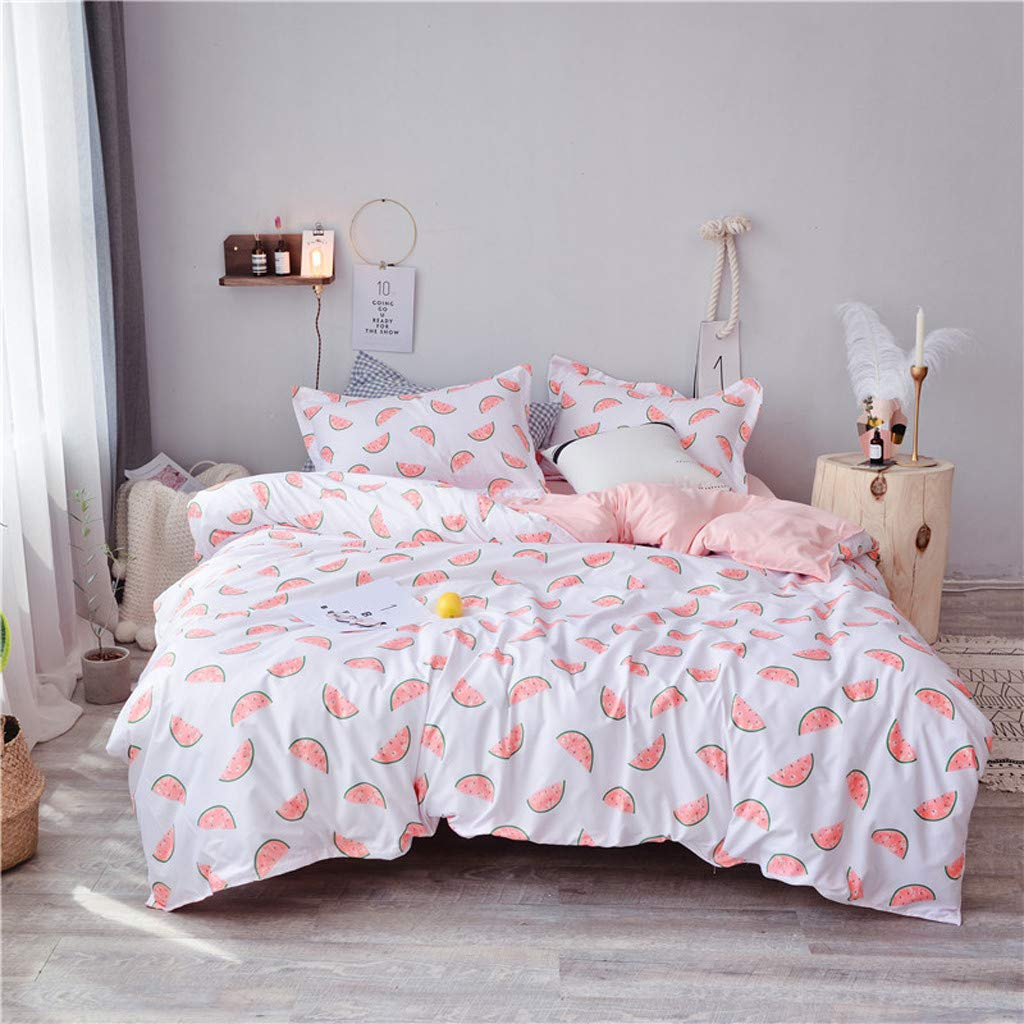 Beyonds Pure Soft 4 Piece Bed Set Pink Deep Pockets Bedding Set Includes x1 Duvet Cover x2 Pillowcases and x1 Fitted Sheet - Soft Polyester Fabric