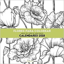 Calendario Flores Para Colorear 2018 Aa Vv 9788448023560 Amazon