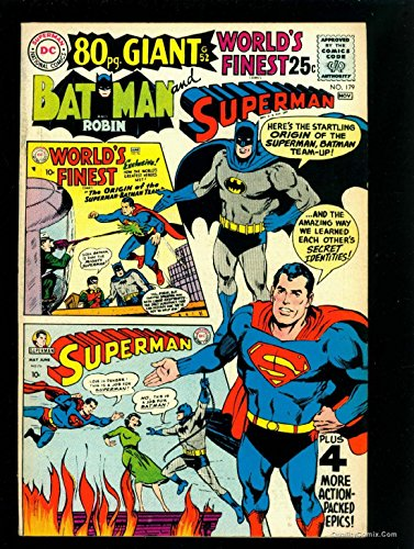 World's Finest Comics #179 VF 8.0 Tongie Farm Collection Pedigree