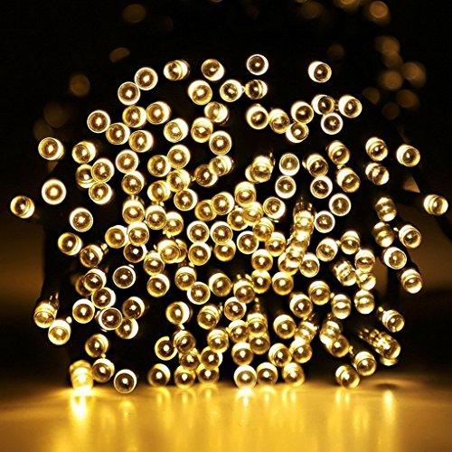 100 Led Solar Garden String Fairy Lights Rechargable Solar Powered Outdoor XMAS(Warm White)