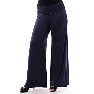 f1f17cc5c42d9 Popular Womens Plus Size Wide Leg Palazzo and Gaucho Lounge Pants 1X - 6X  at Amazon Women s Clothing store