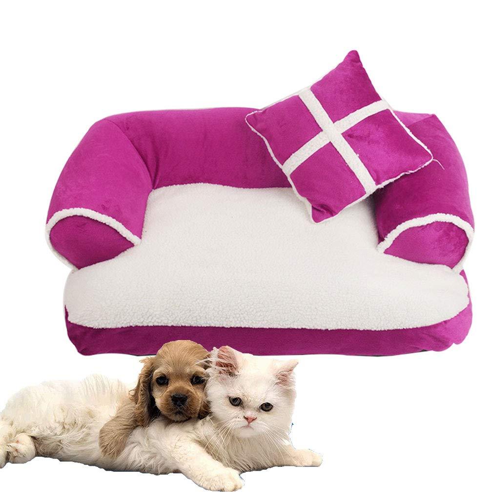 LA VIE Cama Sofá para Mascotas Lavable Extraíble con Almohada Colchoneta Cama Nido Suave Acogedor para Perros Pet Dog Bed M en Roja: Amazon.es: Productos ...