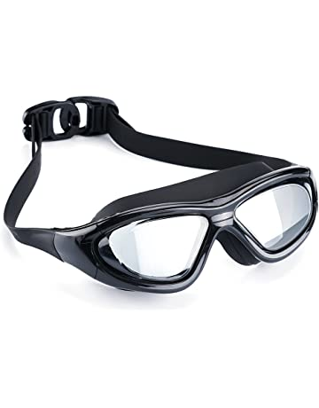 42be218a Swimming Goggles Professional Anti Fog No Leaking UV Protection Wide View Swim  Goggles for Women Men