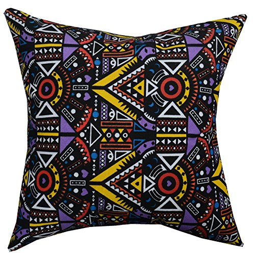 Multi-sized Both Sides Geometric Bohemian Printed Stuffed Throw Pillow