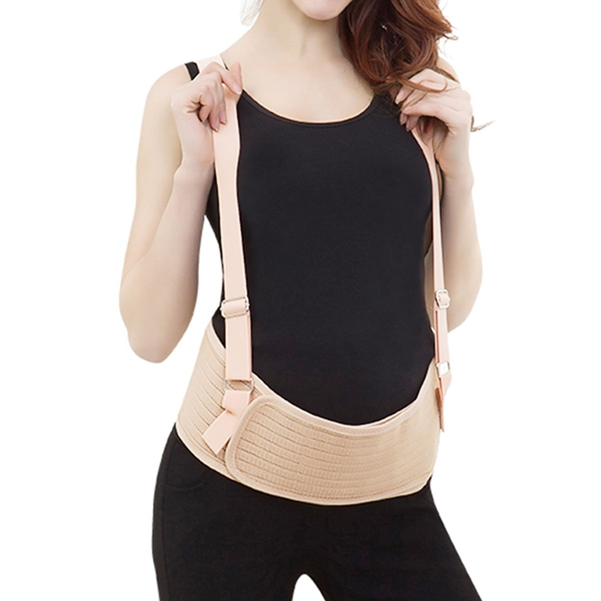 Maternity Belt, Pregnancy Belly Support Band Abdominal Binder, Lower Back and Pelvic Support One Size