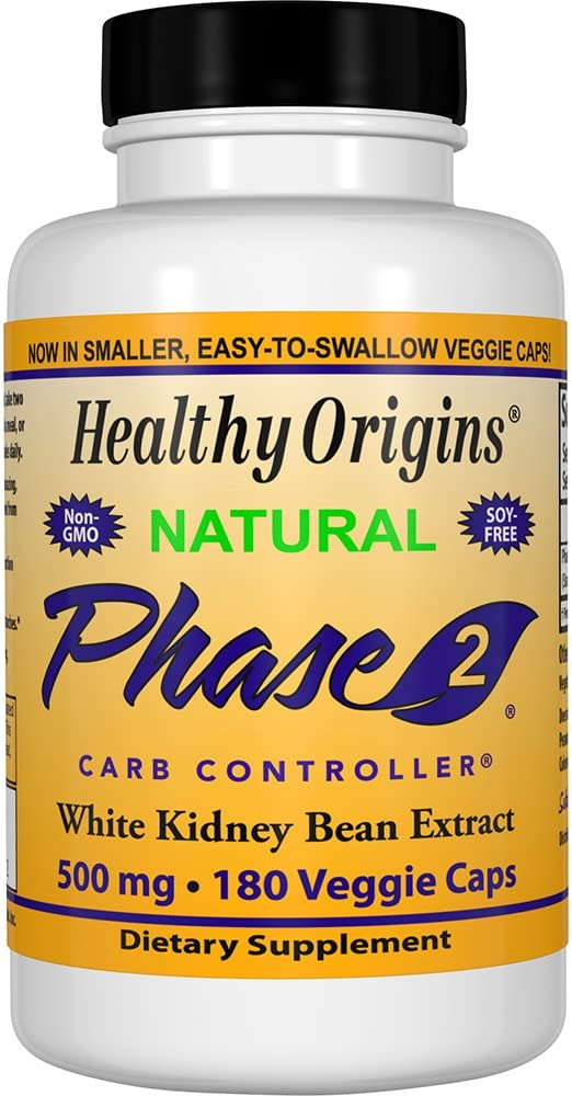Healthy Origins Phase 2 Carb Controller 500 mg, 180 Veggie Caps
