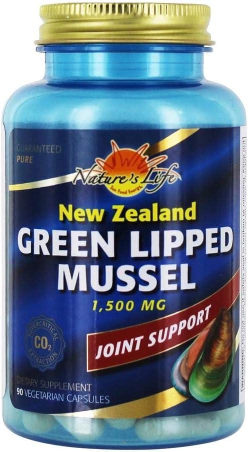 Nature's Life Green Lipped Mussel, Veg Cap (Btl-Plastic) 1g   90ea