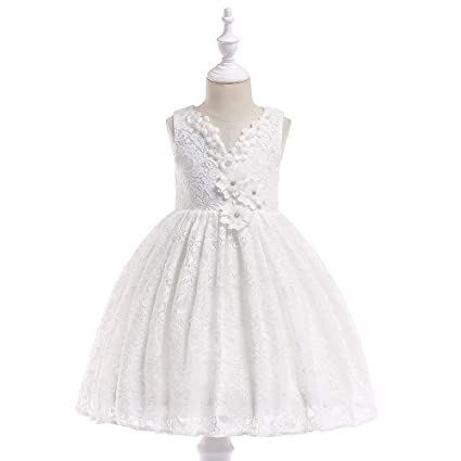 082ac10024017 QZ® Summer V-Neck Lace Princess Dress Girls Elegant Dresses For ...