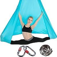 Brinny Aerial yogadoek, premium zijde, aerial uitrusting, doe-het-zelf, elastische yogahangmat, doek, slingswing…