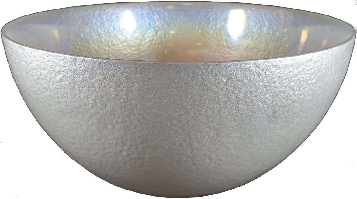 """Circleware Radiance Glass Serving Mixing Fruit Bowl Glassware for Salad, Punch, Beverage, Ice Cream, Dessert, Food and Best Selling Home & Kitchen Decor Gifts, 11.5"""", Clear Luster"""