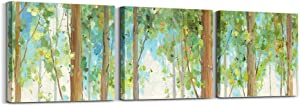 """Spring Woods Canvas Wall Art for Living Room Bedroom Decoration, Modern Canvas Artwork, Home Wall Decor Posters, 12""""x16"""" 3 Panels Home Wall Decor Posters"""