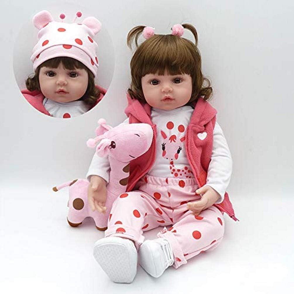 ZIYIUI Realistas muñecas Reborn niña 24 Pulgadas 60 cm Suave Vinilo de Silicona Bebe Reborn niña Recién Nacido Juguetes para niños Mayores de 3 años