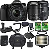 Canon EOS 80D 24.2MP DSLR Camera and EF-S 18-135mm f/3.5-5.6 IS USM Lens Bundle with Accessories (14 Items)