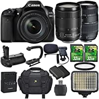 Canon EOS 80D 24.2MP DSLR Camera and EF-S 18-135mm f/3.5-5.6 IS USM Lens Bundle with Accessories (14 Items) At A Glance Review Image