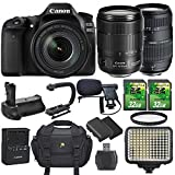 Canon EOS 80D 24.2MP DSLR Camera and EF-S 18-135mm f/3.5-5.6 IS USM Lens Bundle with Accessories (14 Items) Review