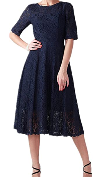 Amazon.com: Kxry - Vestido para mujer, color azul marino ...