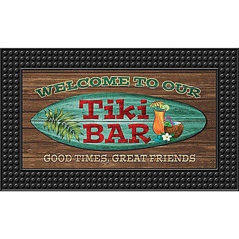 - Tiki Bar18-Inch x 30-Inch LED Door Mat
