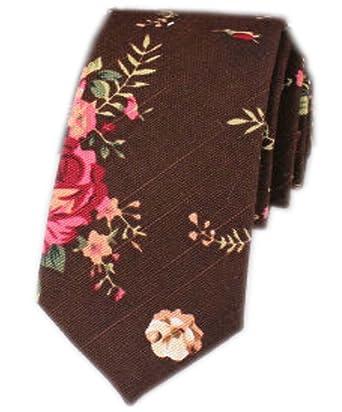 Flor retro] corbatas flacas de la corbata de los hombres Corbatas ...