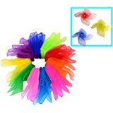 Small scarf    Chiffon Juggling Silk Scarf    Square scarf   Play Dance Music Therapy Dance Yugi Children's Play Recreation Rehabilitation Movement   For juggling etc   10 colors   20 pieces set   60 * 60 cm