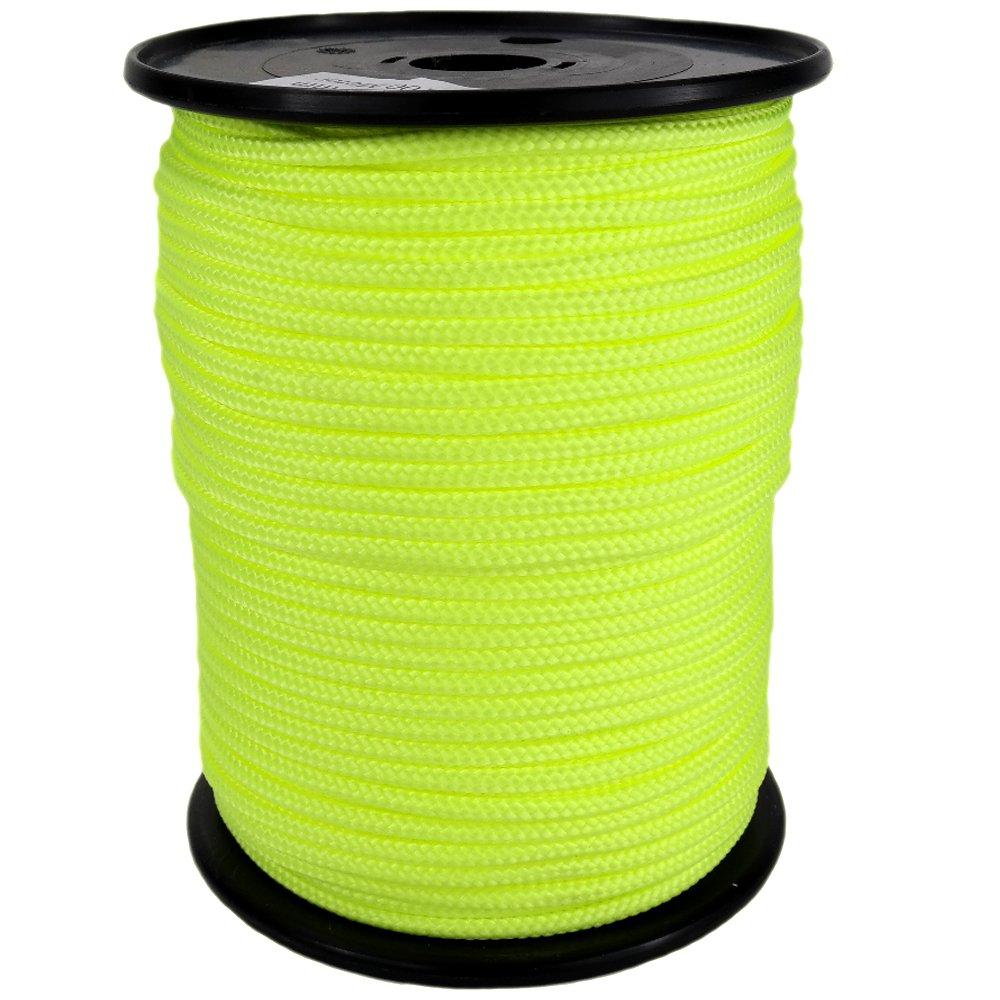 PP Seil Polypropylenseil SH 10mm 100m Farbe Fluorgelb (1030) Geflochten