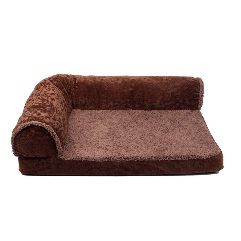 C SmallHeiPlaine Pet Sofa Pet Bed, Luxury Washable Cat Nest Dog Bed Soft Cushion With Backrest (color   B, Size   Large)