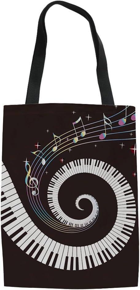 Piano Print Canvas Bag Wedding Bags For Bridal Party, Bridesmaid Tote Gift Bag