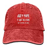 Jian BOJI Duct Tape It Can't Fix Stupid But It Can muffle The Sound Adjustable Washed Cap Cowboy Baseball Hat Red
